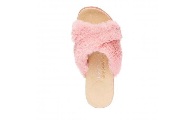 Klapki emu mareeba dusty pink, róż, futro naturalne - emu - nasze marki 4