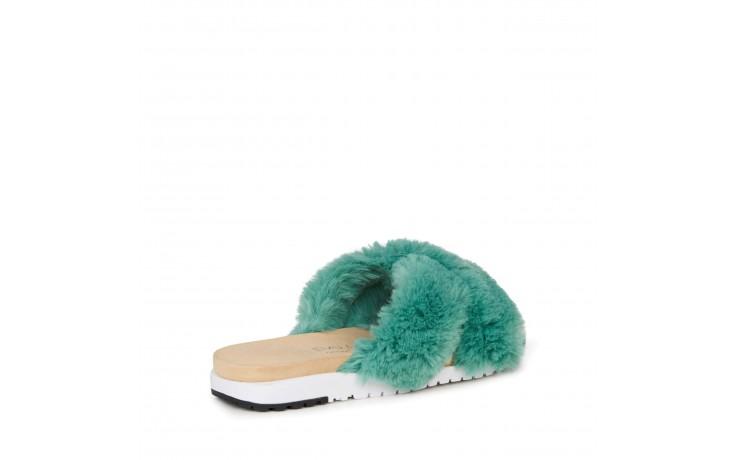 Klapki emu mareeba sea green, zielony, futra naturalna  - emu - nasze marki 3