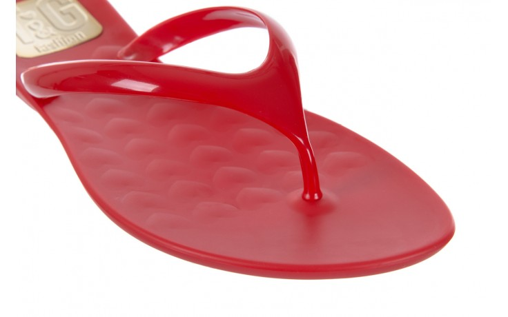Klapki t&g fashion 22-114 red, czerwony, guma - tg - nasze marki 5
