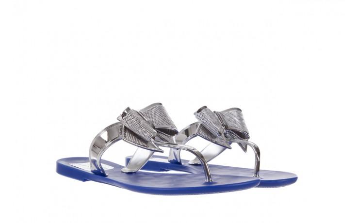 Klapki t&g fashion 22-116 dark blue, granat/ srebro, guma - tg - nasze marki 1