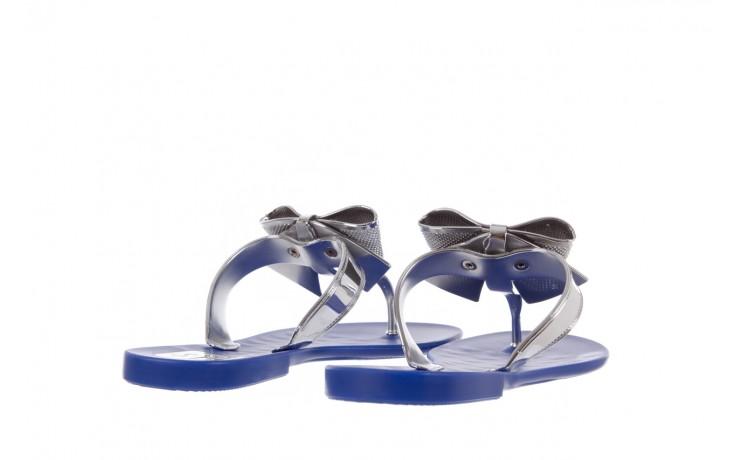 Klapki t&g fashion 22-116 dark blue, granat/ srebro, guma - tg - nasze marki 3