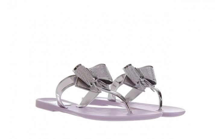 Klapki t&g fashion 22-118 lila, róż/ srebro, guma - klapki - letnie hity cenowe 1