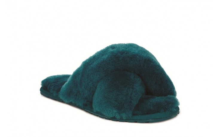 Klapki emu mayberry teal, futro naturalne - emu - nasze marki 1