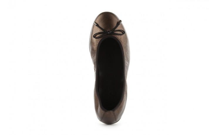 Baleriny the flexx 14153 bronzo, brąz, skóra naturalna - skórzane - baleriny - buty damskie - kobieta 4