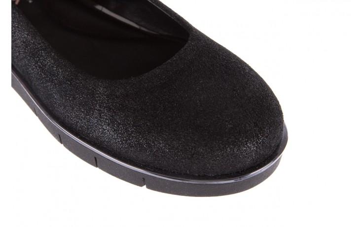 Baleriny the flexx d1039-07 black, czarny, skóra naturalna 5