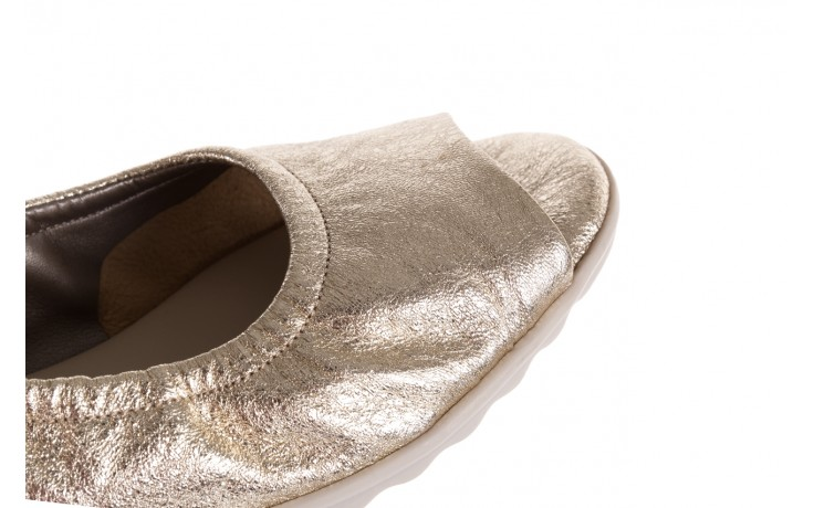 Sandały the flexx fant asm gold, złoty, skóra naturalna  - koturny - dla niej  - sale 7