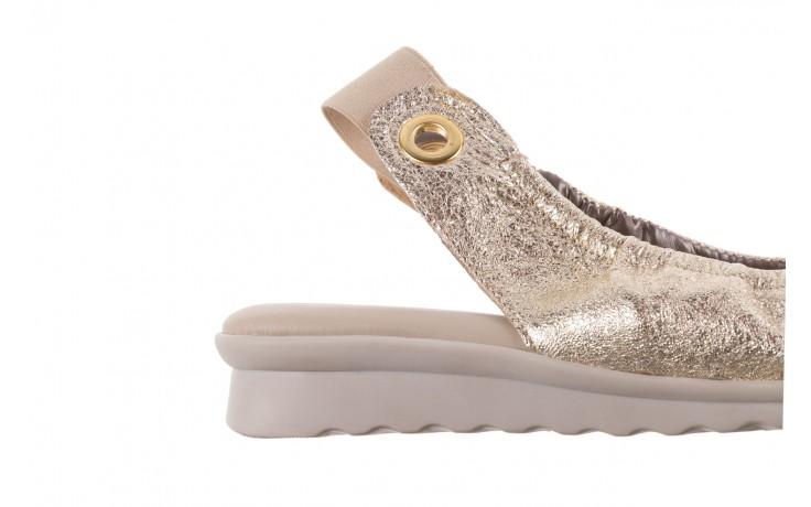 Sandały the flexx fant asm gold, złoty, skóra naturalna  - na koturnie - sandały - buty damskie - kobieta 6