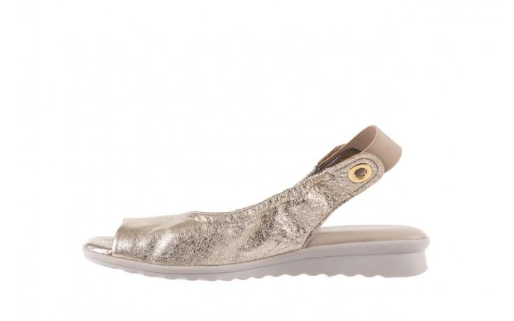 Sandały the flexx fant asm gold, złoty, skóra naturalna  - na koturnie - sandały - buty damskie - kobieta 2