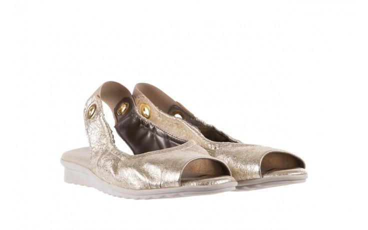 Sandały the flexx fant asm gold, złoty, skóra naturalna  - na koturnie - sandały - buty damskie - kobieta 1