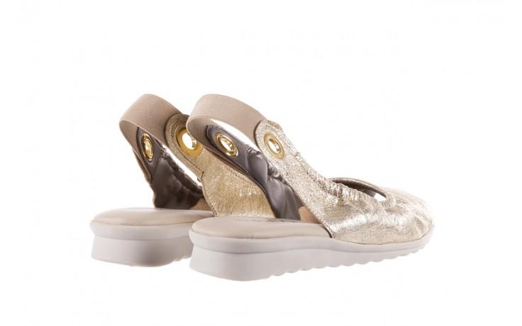 Sandały the flexx fant asm gold, złoty, skóra naturalna  - na koturnie - sandały - buty damskie - kobieta 3
