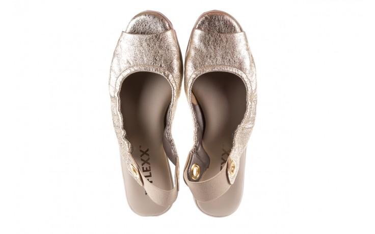 Sandały the flexx fant asm gold, złoty, skóra naturalna  - na koturnie - sandały - buty damskie - kobieta 4