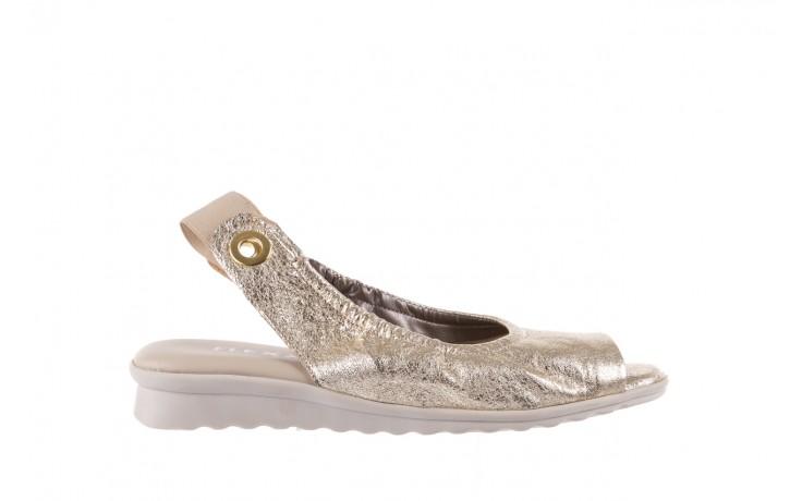 Sandały the flexx fant asm gold, złoty, skóra naturalna  - na koturnie - sandały - buty damskie - kobieta