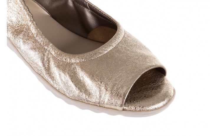 Sandały the flexx fant asm gold, złoty, skóra naturalna  - na koturnie - sandały - buty damskie - kobieta 5