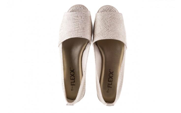Półbuty the flexx fantastic gold, złoty, skóra naturalna  - koturny - buty damskie - kobieta 4