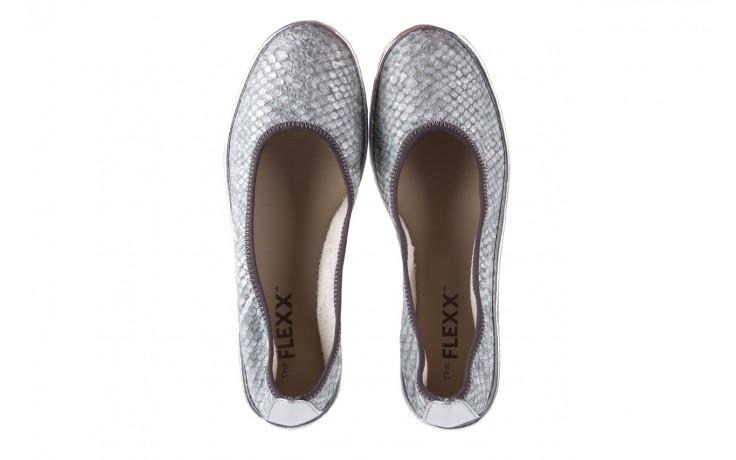 Baleriny the flexx mel a drama silver, biały/srebrny, skóra naturalna  - the flexx - nasze marki 4
