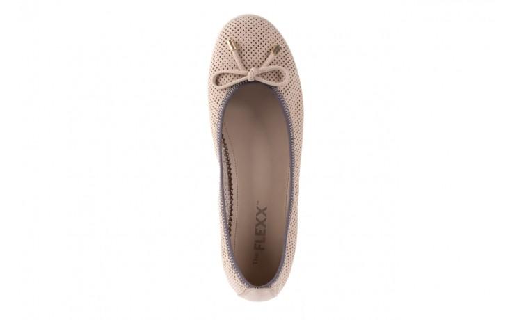 Baleriny the flexx miss italia corda 16, beż, skóra naturalna - the flexx - nasze marki 4