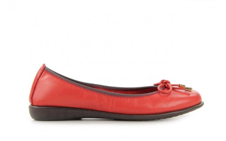 Baleriny the flexx miss italia marlboro, czerwony, skóra naturalna - the flexx - nasze marki