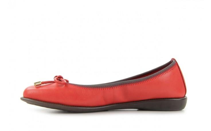 Baleriny the flexx miss italia marlboro, czerwony, skóra naturalna - the flexx - nasze marki 2