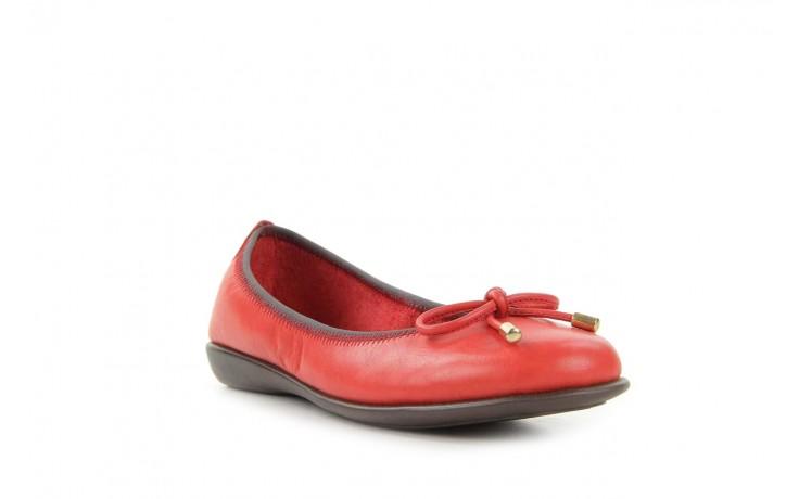 Baleriny the flexx miss italia marlboro, czerwony, skóra naturalna - the flexx - nasze marki 1