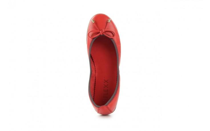 Baleriny the flexx miss italia marlboro, czerwony, skóra naturalna - the flexx - nasze marki 3