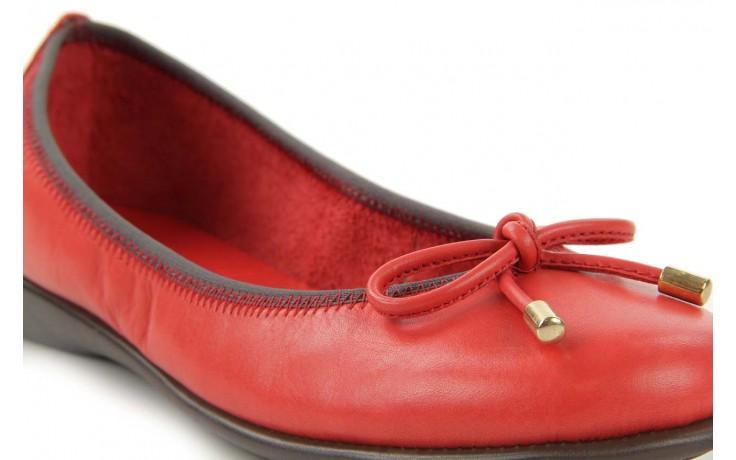 Baleriny the flexx miss italia marlboro, czerwony, skóra naturalna - the flexx - nasze marki 4