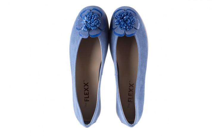 Baleriny the flexx misspoke denim, niebieski, skóra naturalna - the flexx - nasze marki 4