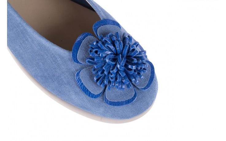 Baleriny the flexx misspoke denim, niebieski, skóra naturalna - the flexx - nasze marki 5