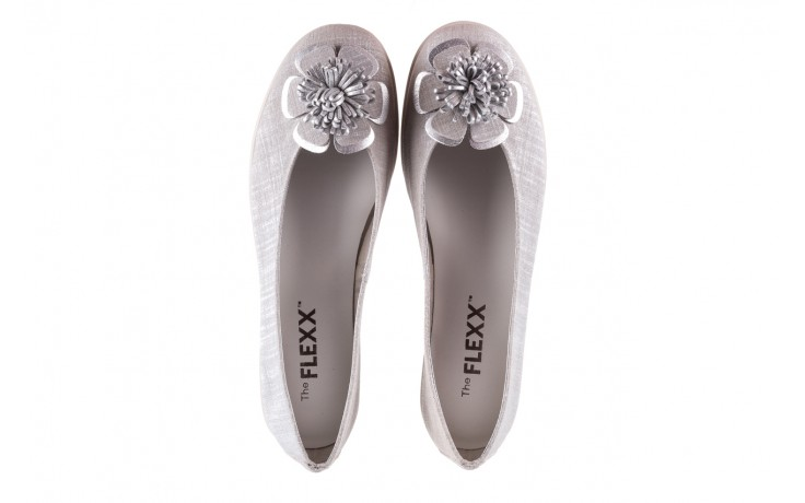 Baleriny the flexx misspoke silver, srebrny, skóra naturalna  - the flexx - nasze marki 4
