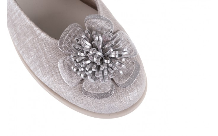 Baleriny the flexx misspoke silver, srebrny, skóra naturalna  - the flexx - nasze marki 5