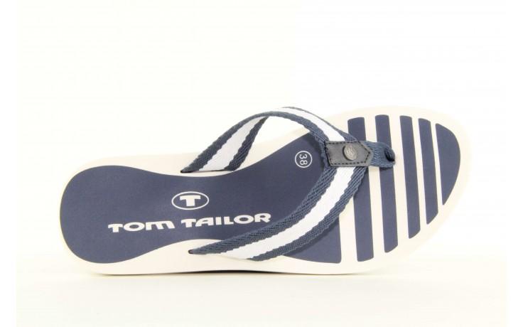 Klapki tom tailor 5491701 navy, granat/ biały, guma 4