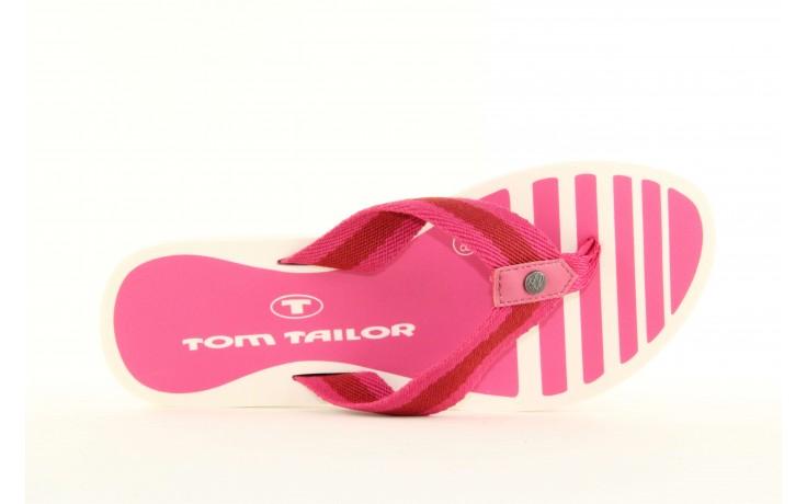 Klapki tom tailor 5491701 pink, róż, guma 3