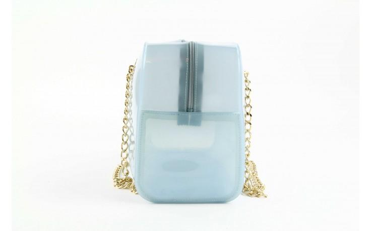 Torebka menghi 602 bauletto celeste gel, niebieski, tworzywo sztuczne