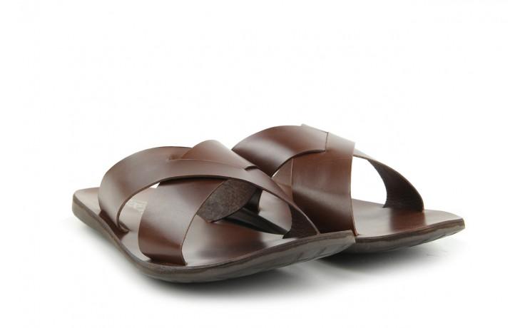Klapki tresor-110 50945 tan, brąz, skóra naturalna - klapki - dla niego - sale 1
