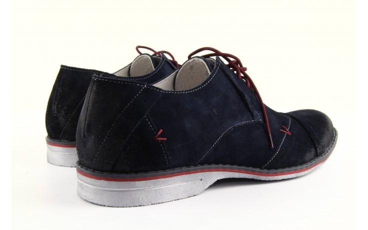 Półbuty tresor-rk 667 welur blue, granat, skóra naturalna  - obuwie wizytowe - dla niego - sale 4