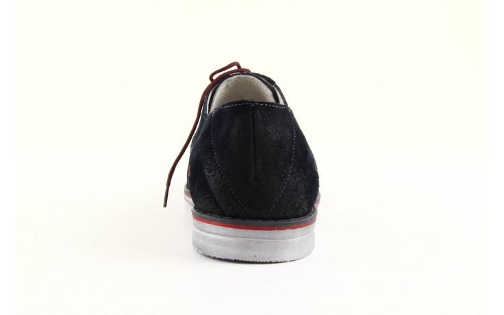 Półbuty tresor-rk 667 welur blue, granat, skóra naturalna  - obuwie wizytowe - dla niego - sale
