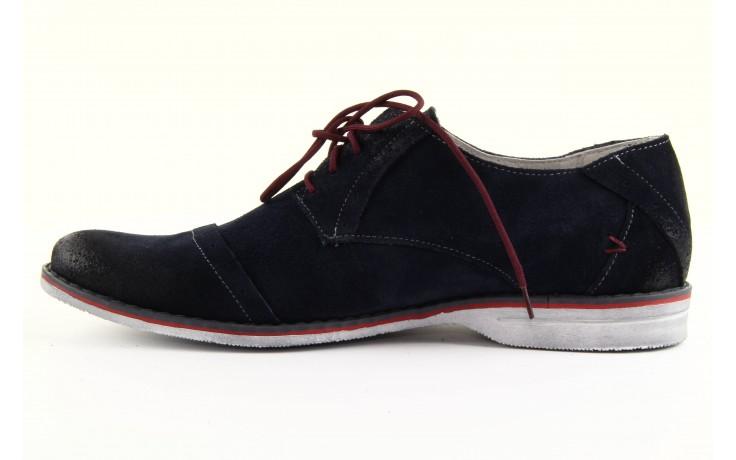 Półbuty tresor-rk 667 welur blue, granat, skóra naturalna  - obuwie wizytowe - dla niego - sale 1