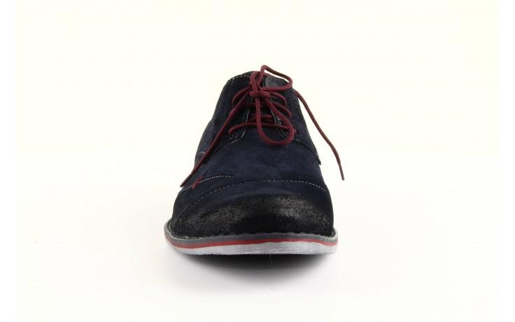 Półbuty tresor-rk 667 welur blue, granat, skóra naturalna  - obuwie wizytowe - dla niego - sale 2