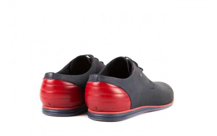 Półbuty tresor-057 3302 granat-czerwony, skóra naturalna - tresor - nasze marki 3