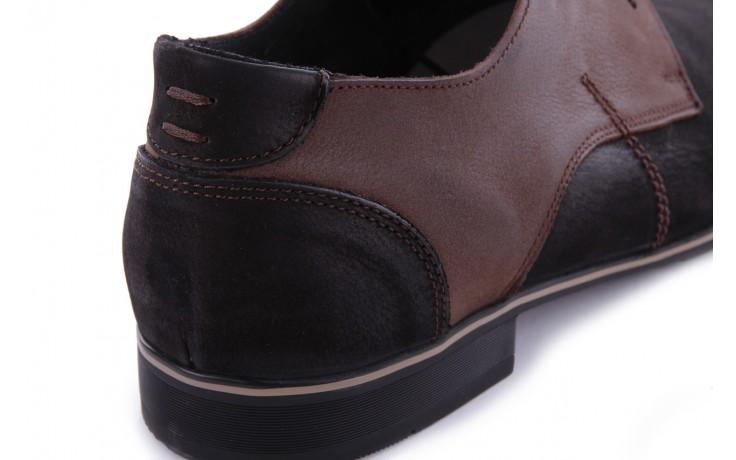 Półbut tresor-ni 192 czarny floter brąz, skóra naturalna - tresor - nasze marki 6