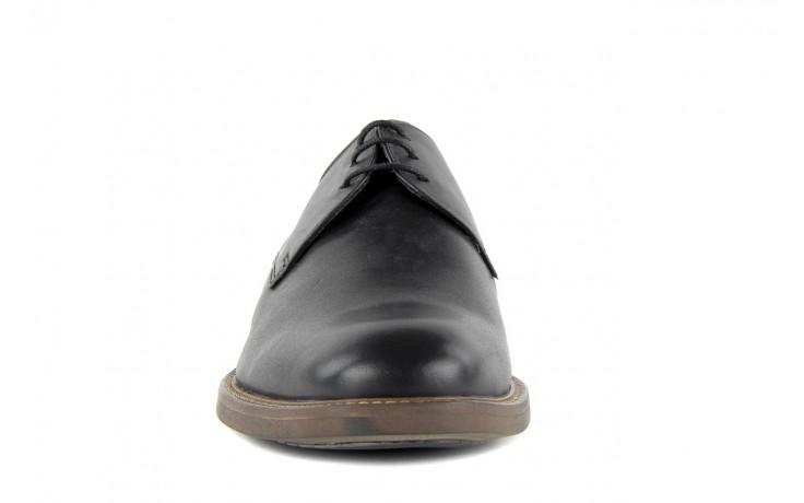 Półbuty valuni 8481 black, czarny, skóra naturalna