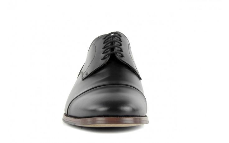 Półbuty valuni 8677 black/grey, czarny/szary, skóra naturalna 5