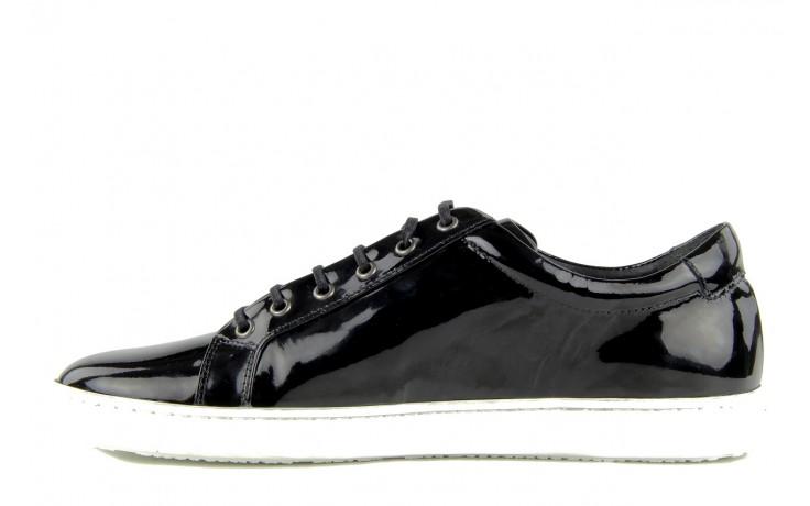 Pólbuty valuni 8964 black, czarny, skóra naturalna - trampki - buty męskie - mężczyzna