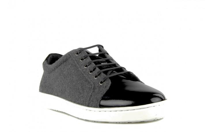 Pólbuty valuni 8964 grey black, szary/czarny, skóra naturalna 3