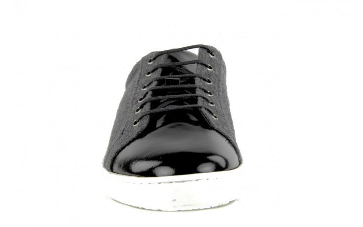 Pólbuty valuni 8964 grey black, szary/czarny, skóra naturalna 2
