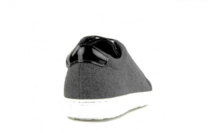 Pólbuty valuni 8964 grey black, szary/czarny, skóra naturalna 5