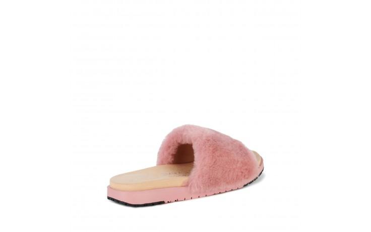 Klapki emu robe dusty pink, róż, futro naturalne  - emu - nasze marki 3