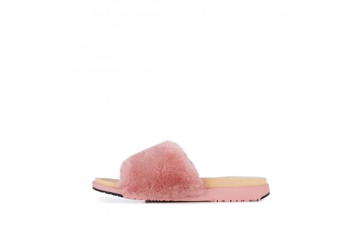 Klapki emu robe dusty pink, róż, futro naturalne  - emu - nasze marki 2