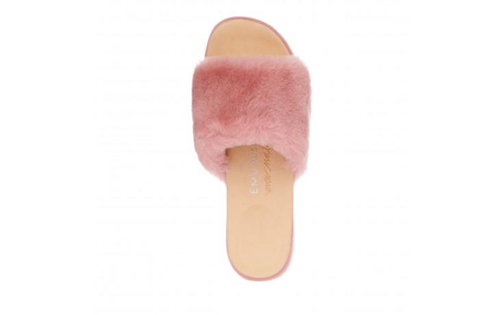 Klapki emu robe dusty pink, róż, futro naturalne  - emu - nasze marki 4
