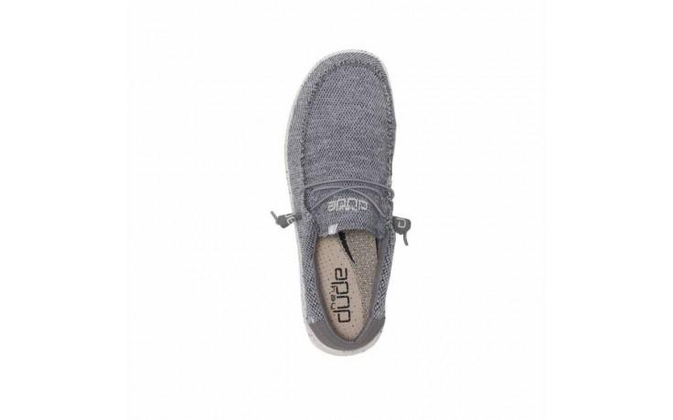Półbuty heydude wally free light grey, szary, materiał  - sportowe - półbuty - buty męskie - mężczyzna 3