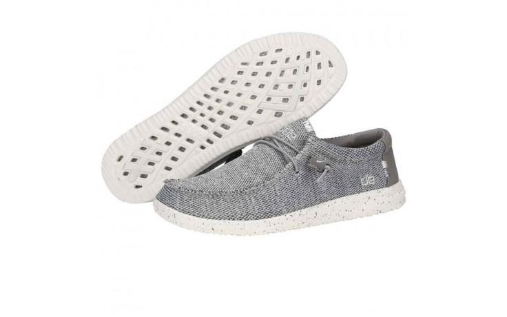Półbuty heydude wally free light grey, szary, materiał  - sportowe - półbuty - buty męskie - mężczyzna 2